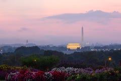 林肯纪念堂,华盛顿纪念碑,美国首都 图库摄影
