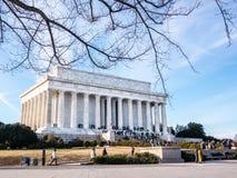 林肯纪念堂 免版税库存图片