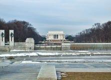 林肯纪念碑的看法 免版税库存图片