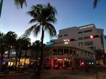 林肯路,南海滩迈阿密 图库摄影