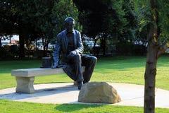 林肯雕象在公园 免版税库存照片