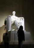 林肯雕象 库存照片