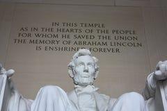 林肯雕象 免版税库存图片