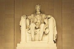 林肯雕象 库存图片