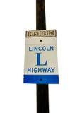 林肯高速公路标志 库存图片