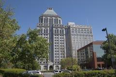 林肯财团大厦在(老)格林斯博罗,北卡罗来纳 免版税库存照片