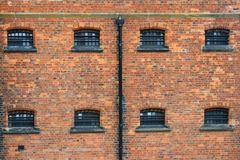 林肯维多利亚女王时代的监狱窗口 库存照片