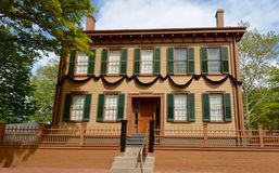林肯总统的议院 免版税库存图片
