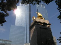 林肯nyc正方形 免版税库存照片