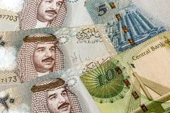 巴林货币关闭 库存图片