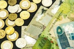 巴林货币关闭 免版税库存照片