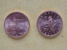 10枚捷克克朗硬币,捷克 免版税库存图片