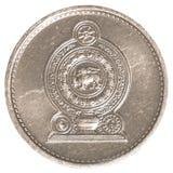 1枚斯里兰卡的卢比分硬币 免版税图库摄影