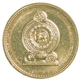 1枚斯里兰卡的卢比硬币 图库摄影