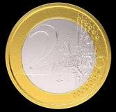 2枚硬币货币铕欧元 库存照片
