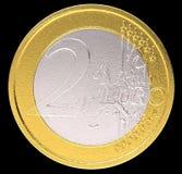 2枚硬币货币铕欧元 库存图片