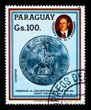 1975枚硬币,发展规划serie,大约1985年 免版税库存图片