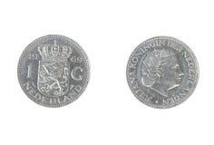 1枚荷兰货币硬币 库存照片