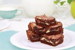 果仁巧克力使有大理石花纹 免版税库存图片