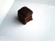 果仁巧克力片 图库摄影