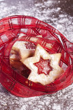 果冻曲奇饼星形 库存图片