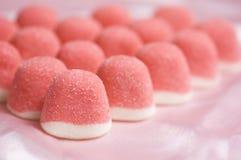 果冻桃红色甜点 库存照片