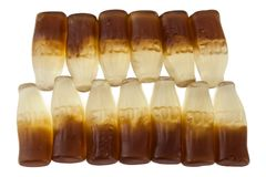 果冻糖果可乐瓶 免版税图库摄影