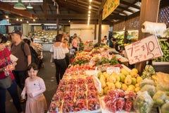 水果和蔬菜市场 免版税库存照片