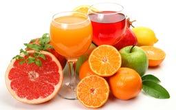 水果和蔬菜汁 免版税库存图片