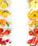 水果和蔬菜混合 图库摄影