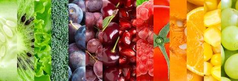 水果和蔬菜背景 免版税库存图片