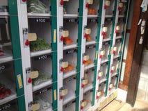 水果和蔬菜自动售货机 免版税库存照片