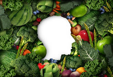 水果和蔬菜认为 库存例证