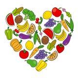 水果和蔬菜 皇族释放例证