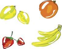 果子例证集合向量 免版税库存图片