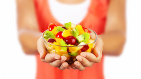 果子健康沙拉 免版税图库摄影