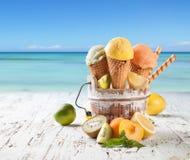 果子冰淇凌 图库摄影