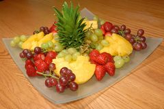 果子刷新的沙拉 库存图片