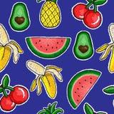 果子刺绣的样式 库存图片
