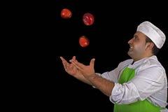果子卖主用苹果 免版税库存图片