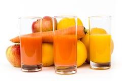 果子和汁液 免版税库存图片