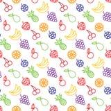 果子和浆果无缝的背景 免版税库存照片