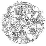 果子和莓果无缝的样式 免版税库存照片