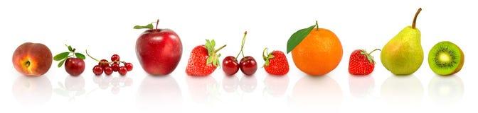 果子和莓果的图象在水 免版税库存图片
