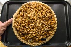 果子和莓果饼新鲜从烤箱 免版税库存图片