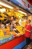 果子和veg摊位,马拉加。 免版税库存图片