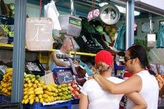果子和veg摊位,马拉加 免版税库存图片