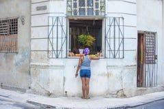 果子商店在哈瓦那,古巴 免版税库存照片