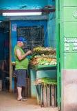 果子商店在哈瓦那,古巴 库存图片