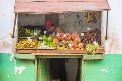 果子商店在哈瓦那,古巴 库存照片